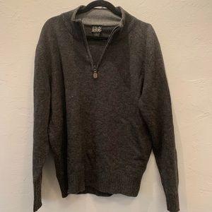 Jos. A. Bank Grey Lamb Wool Sweater